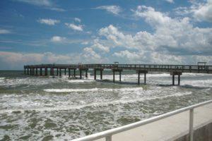 Pier on a beach